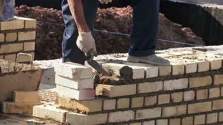 planos : Construction townhouse, work bricklayer, masons