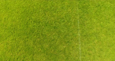 Aerial View. Flying over the football field Stock Footage