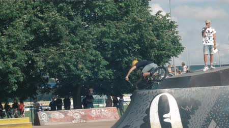 super car : LATVIA, VENTSPILS, JULY 29, 2017: Skateboarding Show Ghetto Games. Ghetto games is biggest in Baltic countries sport summer x games festival in Ventspils,Latvia.
