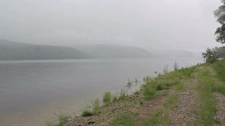 volga region : Mountains with along a wetlands river bank. FullHD