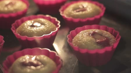 fırınlama : Time lapse - Muffins baking in the oven Full HD