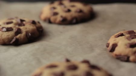 keksz : Chocolate American Cookies baking in the oven Full HD