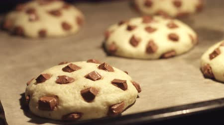 hamur : 4K Time lapse - Chocolate American Cookies Baking in the Oven