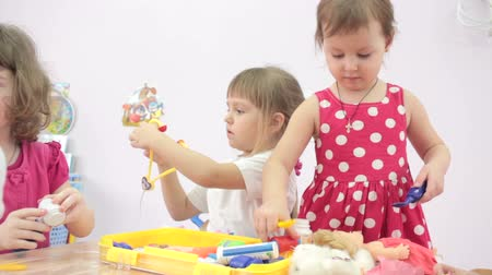 preschool : Children playing in kindergarten