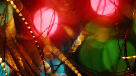 sabah : Abstract blurred Christmas lights bokeh background Stok Video