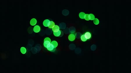 мишура : Abstract blurred Christmas lights bokeh background Стоковые видеозаписи