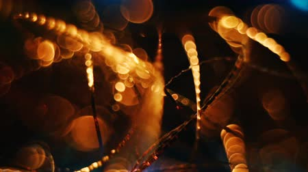 závit : Abstract blurred Christmas lights bokeh background Dostupné videozáznamy