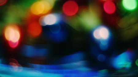 hallucinations : Abstract blurred Christmas lights bokeh background Stock Footage