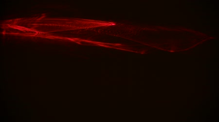 gösterileri : Red streaks light abstract animation background. Seamless Loop