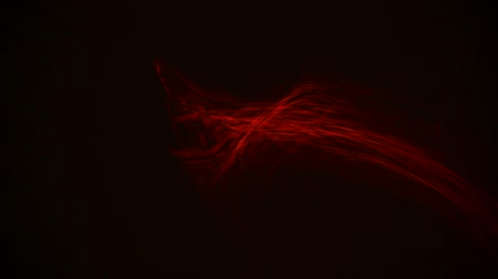 Red streaks light abstract animation background. Seamless Loop