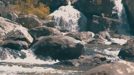 rapids : Waterfall uchar in altay mountains Stock Footage