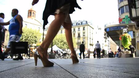 gyalogos : Pedestrians in a shopping street. Find similar clips in our portfolio.