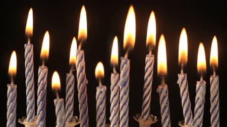 alevler : Birthday candles.  Find similar in our portfolio. Stok Video