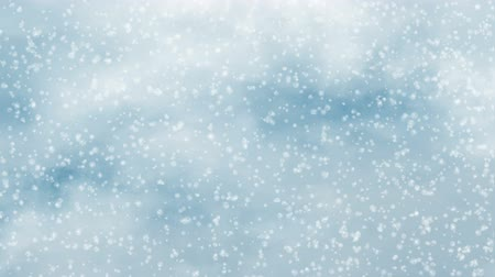 freshness background : snowfall motion on a blue clouds sky backgrounds