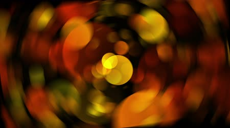 gerçeküstü : spinning blur Warm Round Shapes. kaleidoscope Bokeh backgrounds Stok Video
