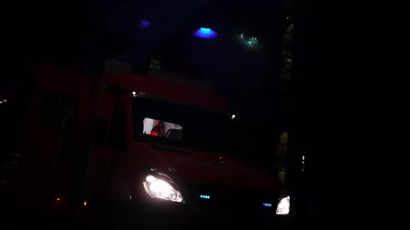 karetka : a german ambulance car with flashing beacon is shown, emergency