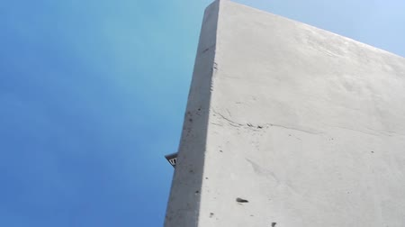 icc : the Radio Tower in West-Berlin occurs behind a concrete wall