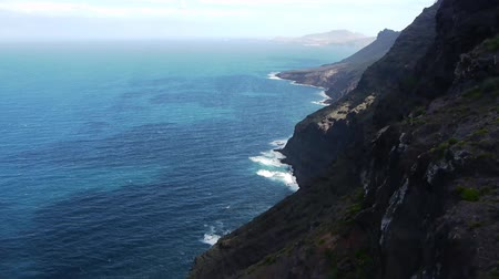 sopka : sea with mountains at the coast, view of the northern part of the island Gran Canaria