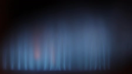 petrol : gas burning in some heating device, blue flame with yellow sparkling