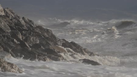 saia : Heavy storm causing raging waves and breakers, Crete, Greece