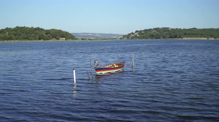 ужение : Fishing boat on a lagoon in southern France