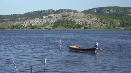 hooker : Fishing boat on a lagoon in southern France