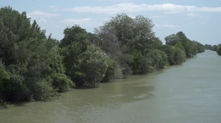 водный путь : Tree lined river Aude in the Languedoc region in southern France