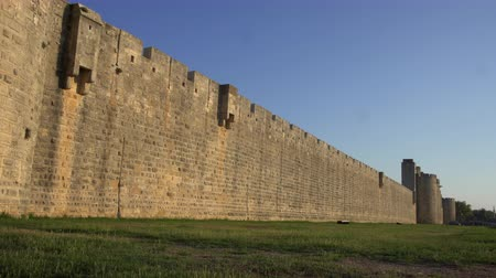 Walls of the fortress of Aigues Mortes in southern France