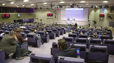 conferência : Press Conference in European Commission