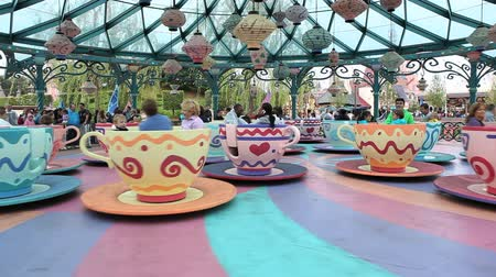 tündér : Paris, June 28, 2014: Disneyland in Paris carousel