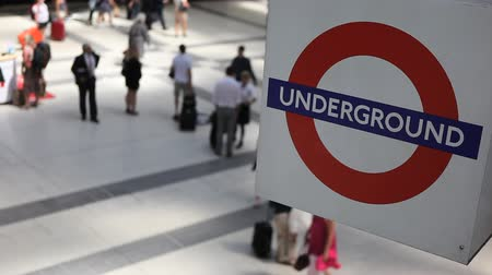 underground : London underground sign Stock Footage