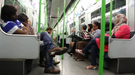 podzemní : London, July 11, 2014: London underground passengers