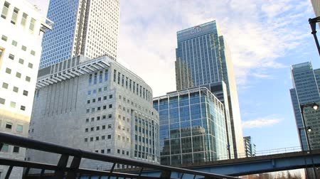 bina : Canary Wharf office buildings in London