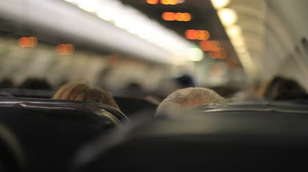 steward : Plane passengers close-up Stock Footage
