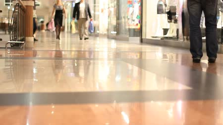 consumismo : Shopping mall alley slow motion 1 Vídeos
