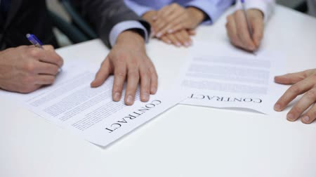 legal : business and office, legal concept - businessmen signing a contract