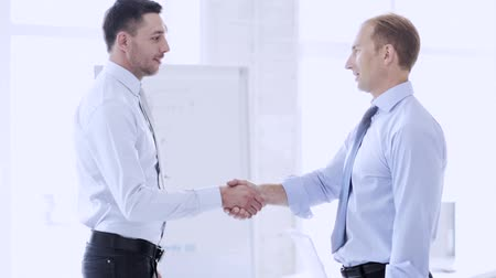 homem de negócios : business handshake - two businessmen shaking their hands