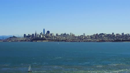 oceano pacífico : view of san francisco city and pacific ocean