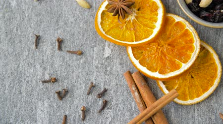 kesudió : dried orange slices, anise, cinnamon and spices