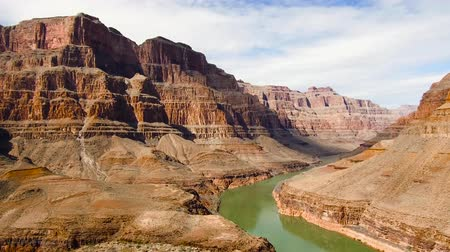 plateau : view of grand canyon cliffs and colorado river