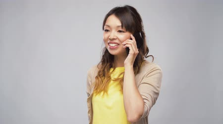 calling telephone : asian woman calling on smartphone