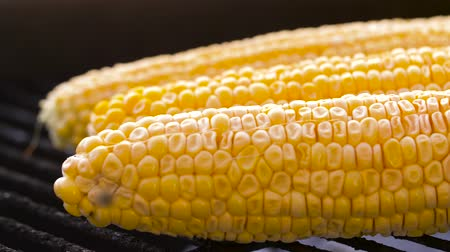 tang : corn roasting on brazier grill outdoors