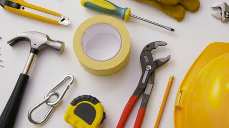 разница : different work tools on white background