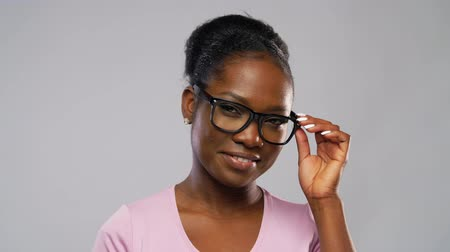 zrak : portrait of african american woman in glasses