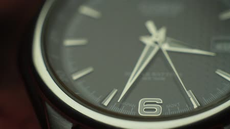minute hand : wristwatch second hand close up