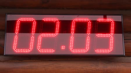 электричество : date time temperature digital  display Стоковые видеозаписи