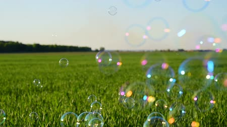 szappan : Soap bubbles flying outdoor