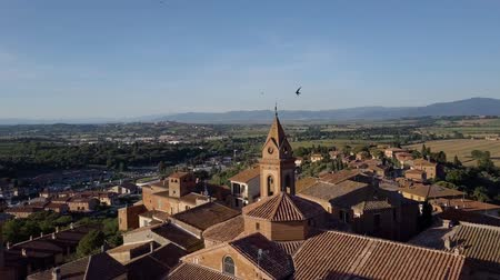 romanico : Aerial Small Italian village in the mountains