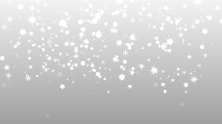 sniezynka : Christmas silver background with snowflakes falling snow holiday xmas with stars hd 1080p