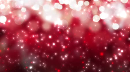 bezešvý : digital seamless loop christmas red background with white bokeh snow falling holiday xmas hd 1080p